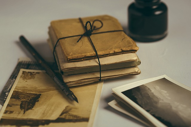 Tags: old letters, quill, old photos